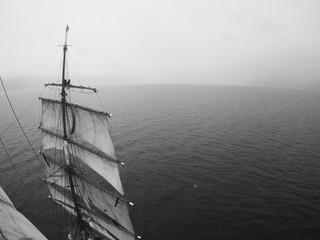 sailors aloft on a tallship