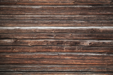 Dark brown old grungy wooden wall, background