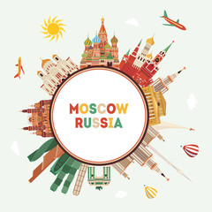 Moscow travel . Vector illustration
