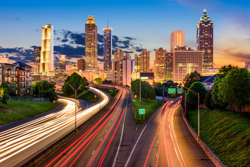 Atlanta Skyline Wall mural