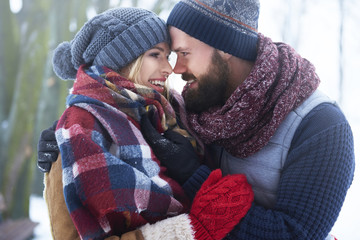 This is perfect winter day for lovers