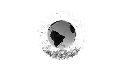 Earth Particle Graphics 01 Black