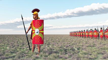 Centurio und Legionäre