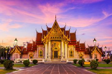 Fotorollo Bangkok Bangkok, Thailand. Wat Benchamabopit ( Marble temple)