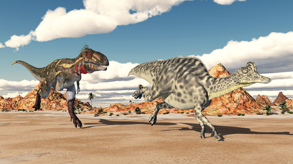 Nanotyrannus attacks Velafrons