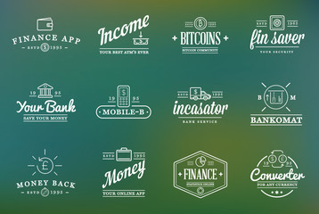 Set of Vector Finance Elements and Money Business as Illustration can be used as Logo or Icon in premium quality