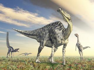Velafrons und Velociraptor