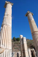 Pillars at Ephesus, Izmir, Turkey, Middle East