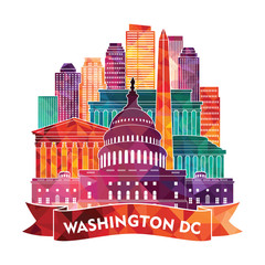 Washington Dc. Vector illustration