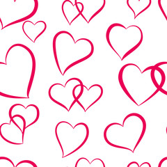 Valentines Day seamless background with hearts . vector. EPS 10