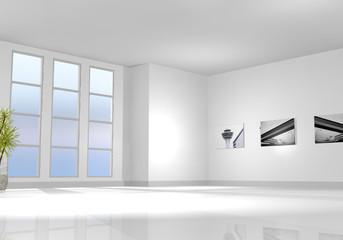 Leerer Raum / Wohnzimmer Froschperspektive