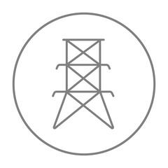 Electric tower line icon.