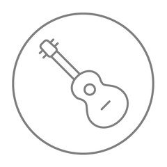 Guitar line icon.