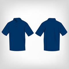 Blue polo shirt isolated vector