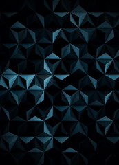 Low Poly Extra Dark Cyanotype Abstract Background