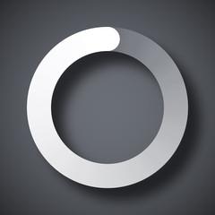 Circular loading icon, vector