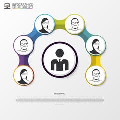 Communcation Concept. Infographic design template. Vector