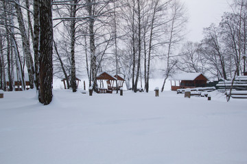 winter landscape in the countryside