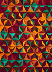 Foto op Canvas ZigZag Low Poly Multicolored Abstract Background