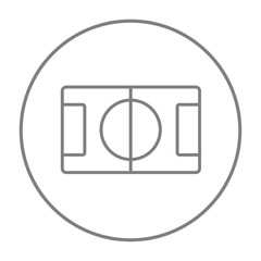 Stadium layout line icon.