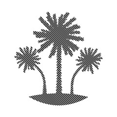 Palm sign on white.