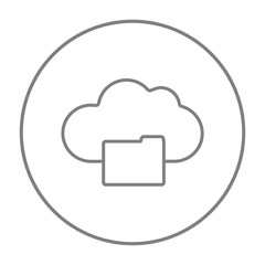 Cloud computing line icon.