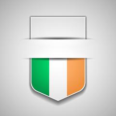 Ireland flag shield