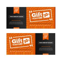 Two coupon voucher design. Gift voucher template