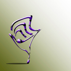 Batman/ immagine realizzata con il computer di una forma