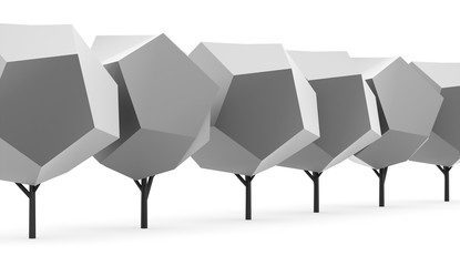 Abstract trees concept rendered on white background isolated