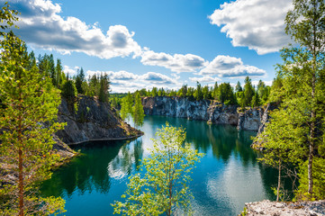 Nature in summer, Karelia, Russia