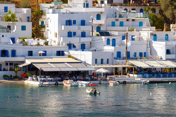 Small Loutro town at soth part of Crete island