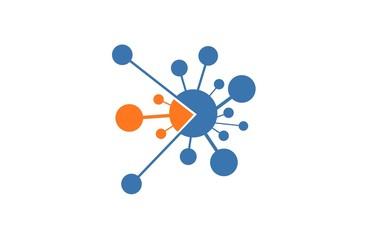 circle icon technology connection logo