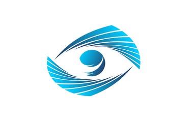 eyes logo vector