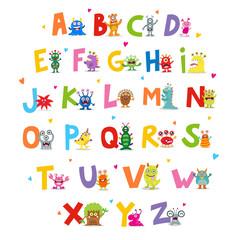 Cute Monsters Alphabet