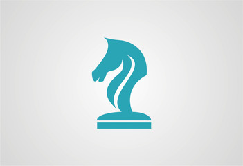 Horse in Chess Logo
