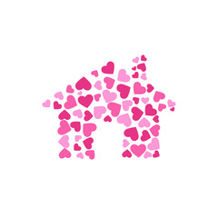 Lovely house. Vector Logo design
