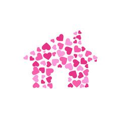 Lovely house. Vector Logo design