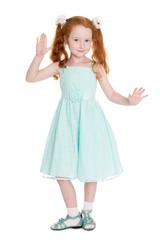 Playful little girl six years