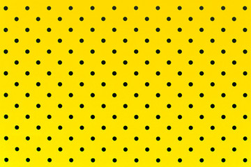 wallpaper pattern black dots in yellow color background