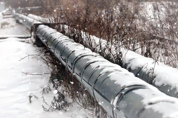 gas pipe transite snow winter