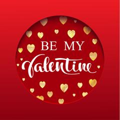 "Valentine's card ""Be My Valentine"""
