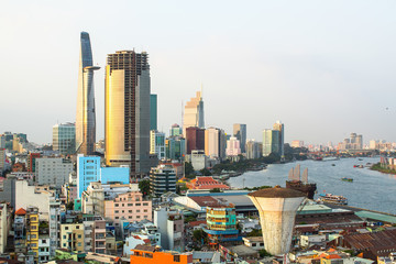Panorama Of Ho Chi Minh City (Saigon) Vietnam.
