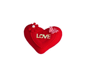 Symbol of love isolated with clipping path.