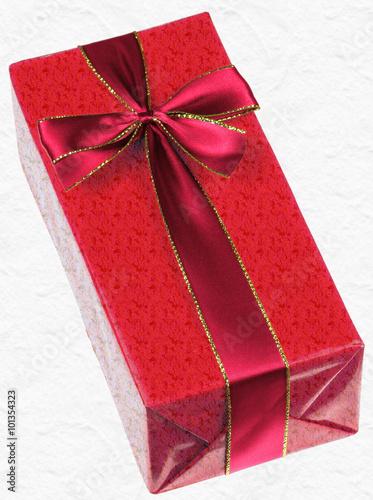 paquet cadeau rouge fond papier photo libre de droits sur la banque d 39 images. Black Bedroom Furniture Sets. Home Design Ideas