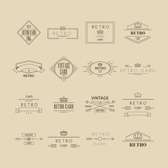 Retro Labels. Vector Illustration Set