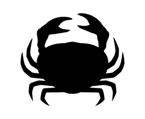 Crab or crustacean flat icon for food apps and websites