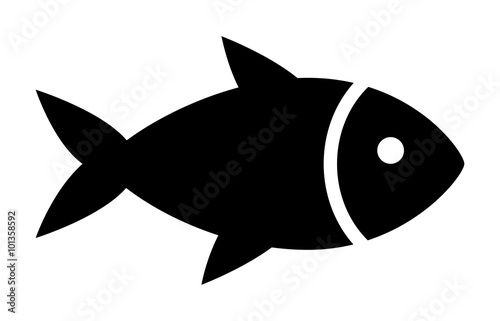fish or seafood flat icon for food apps and websites stock image