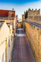 Wall Mural - View of a old town wall at Spain