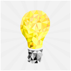 glass lamp in polygonal style